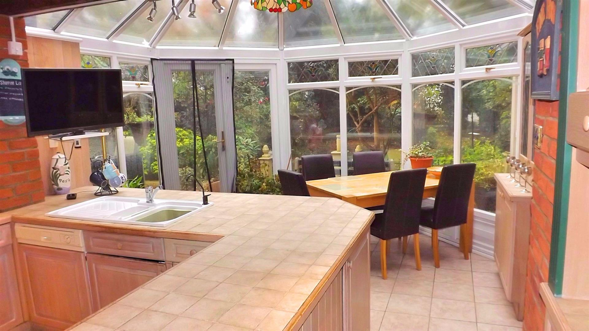 KITCHEN OPEN TO CONSERVATORY